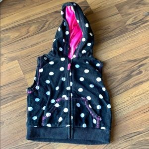 Carters Toddler Zip up fleece hooded vest
